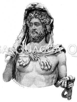 Büste des Commodus als Herkules. Original im kapitolinischen Museum