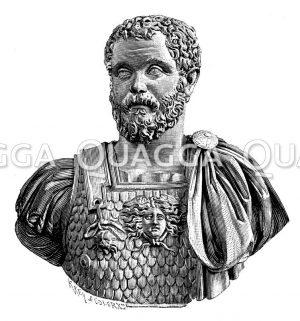 Septimius Severus. Antike Marmorbüste im kapitolinischen Museum