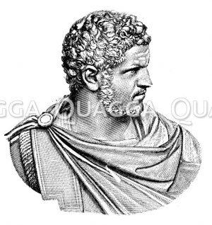 Caracalla. Antike Marmorbüste im vatikanischen Museum