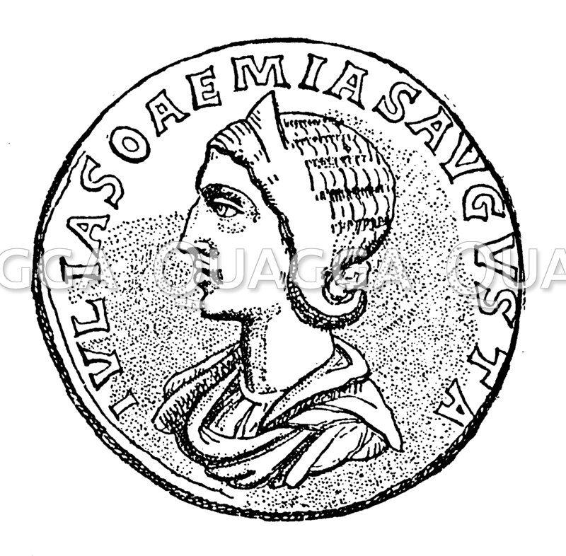 Münzporträt der Soämis