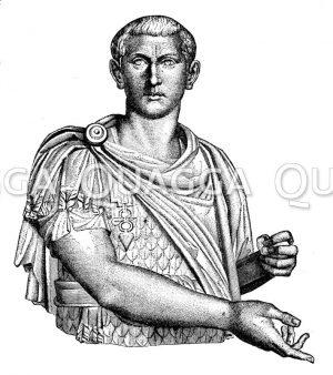 Gordianus III. Marmorbüste im Louvre zu Paris