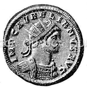 Claudius Goticus. Münzporträt. Nach Imhoof-Blumer