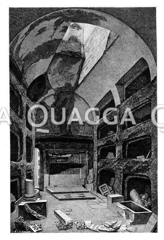 Grabkammer römischer Bischöfe des 3. Jahrhunderts in der Calixtkatakombe
