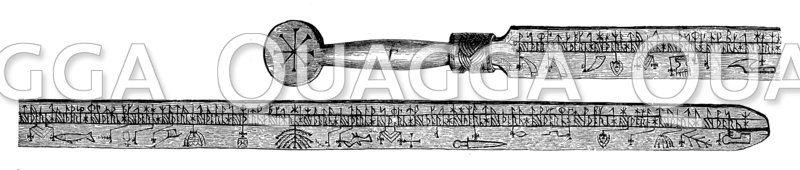 Altnordischer Runenstab aus Lindenholz