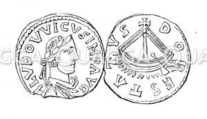 Kaisermünzen: Münze Ludwigs des Frommen