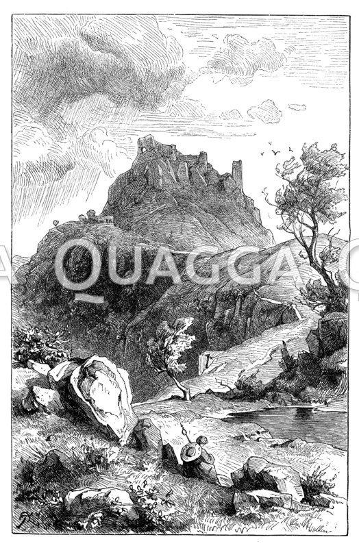 Trümmer der Burg Canossa