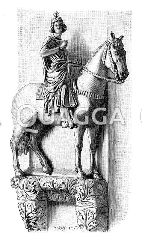 Statue Konrads III. im Dom zu Bamberg