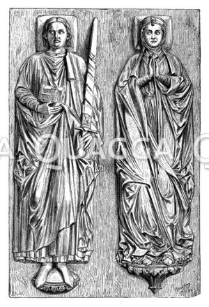 Grabfiguren Heinrichs des Löwen und seiner Gemahlin Mechthild