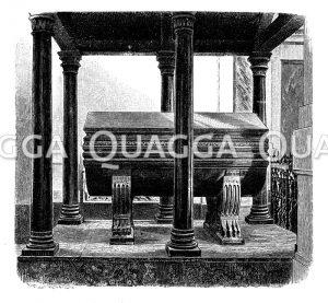 Kaiser Heinrichs VI. Grabmal im Dom zu Palermo