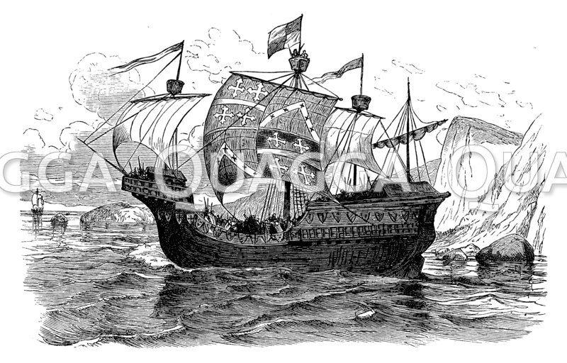 Rekonstruktion eines skandiavischen Kriegsschiffes des 12. Jahrhunderts
