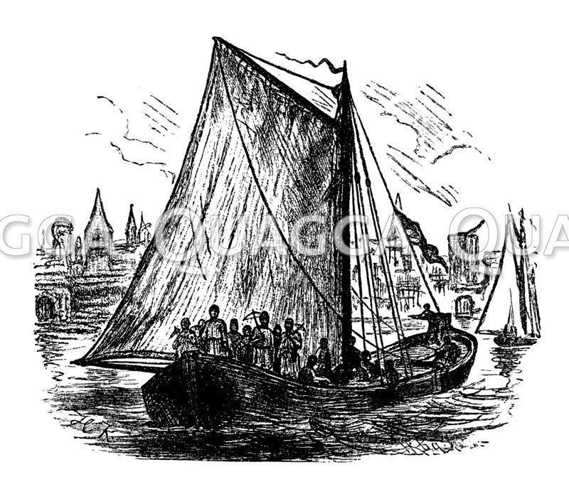 Rekonstruktion eines Kriegsschiffes des rheinischen Städtebundes