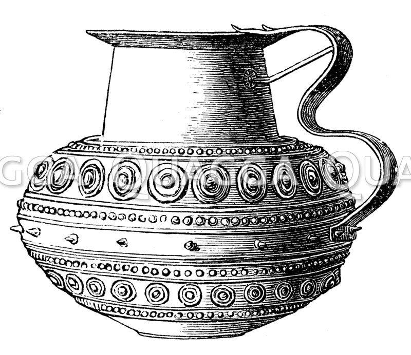 Getriebenes Gefäß aus Bronze