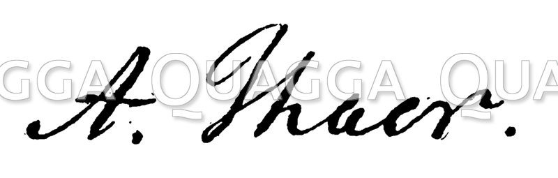 Albrecht Daniel Thaer: Autograph