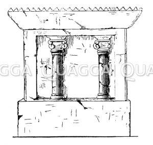 Relief von Khorsabad. Säulengalerie