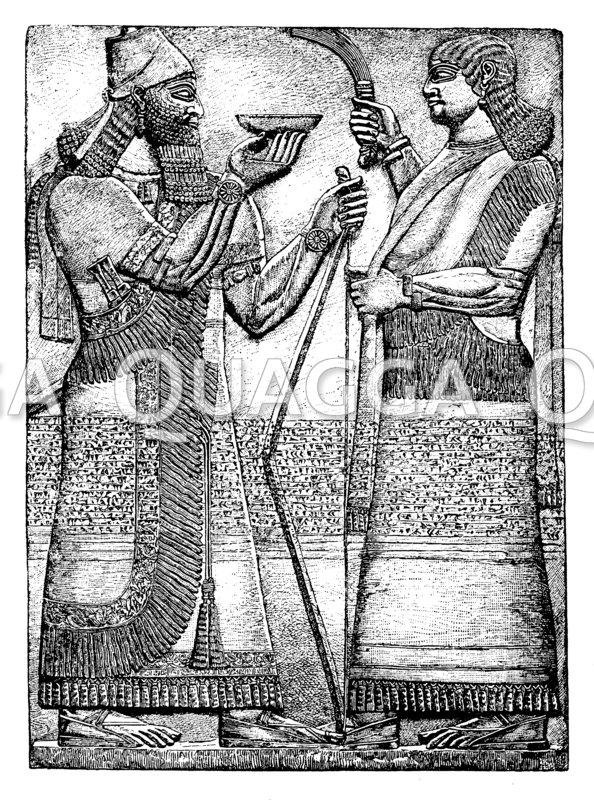 König Assurnarsipal: Libation