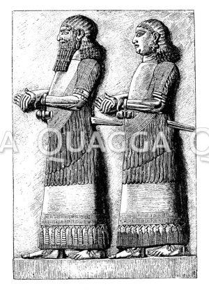 Assyrische Reliefplatte