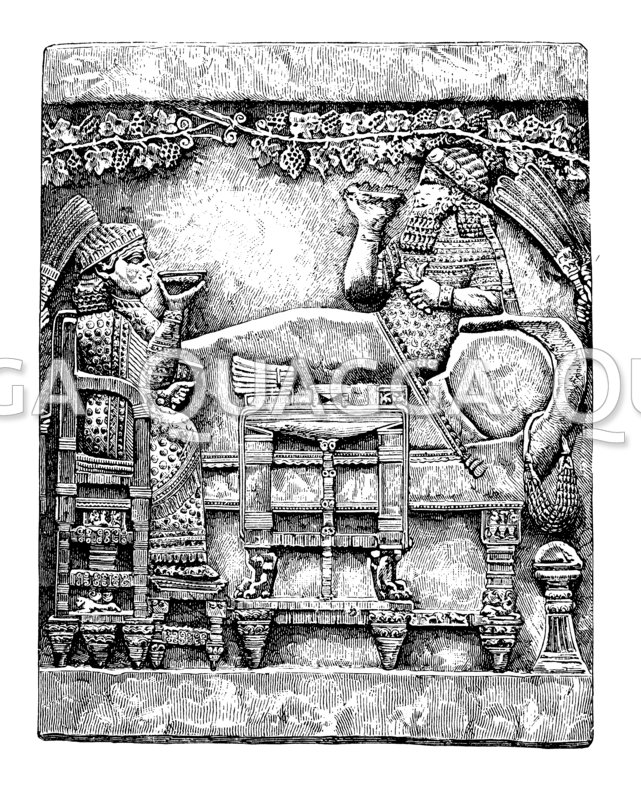 Festgelage des Königs Assurbanipal