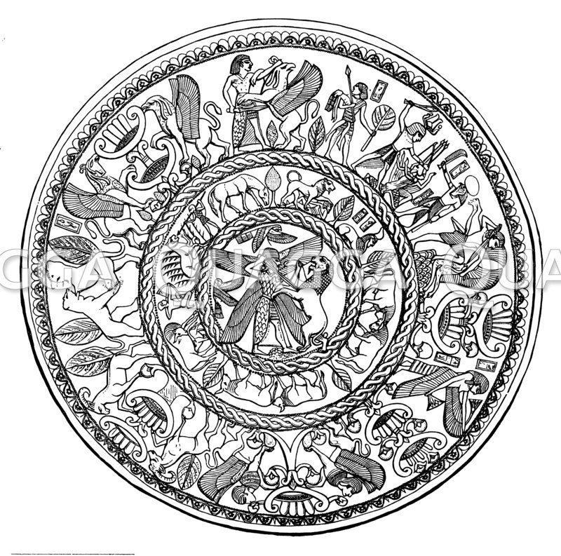 Silberne Schale von Curium auf Zypern