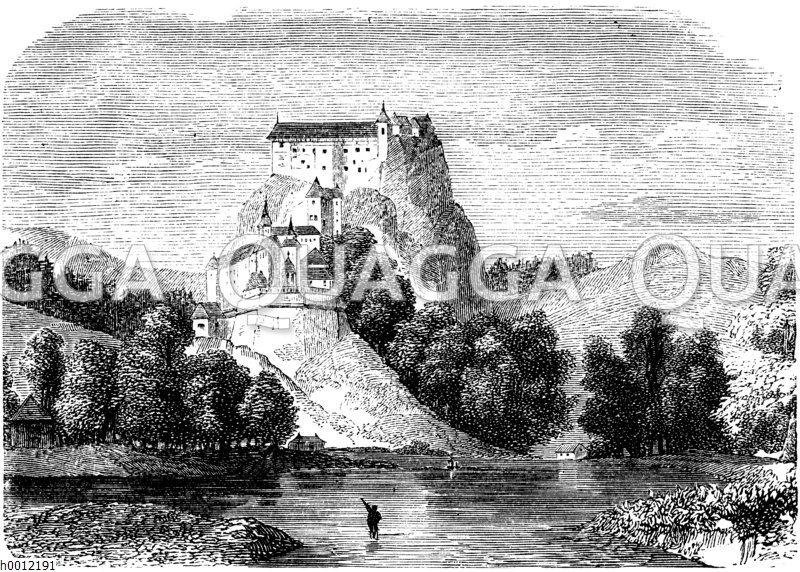 Schloss auf einem Felsen