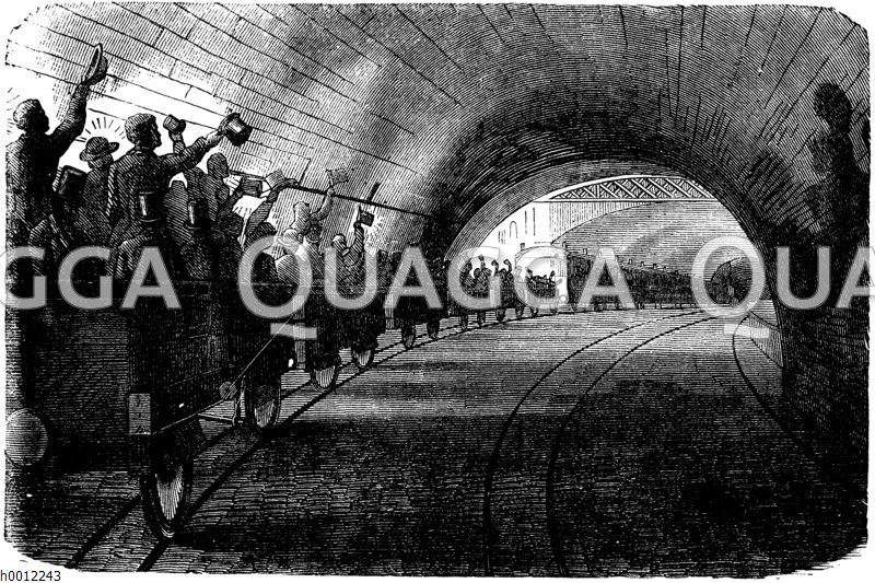 Eisenbahn im Tunnel