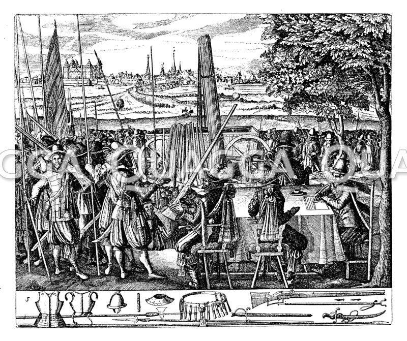 Anwerbung und Ausrüstung der Soldaten zur Zeit des Dreißigjährigen Krieges
