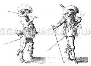 Französische Soldatentypen um 1630