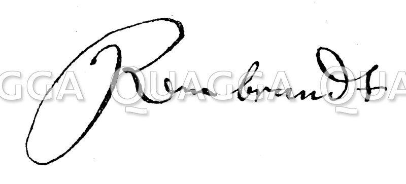 Autograph: Rembrandt Harmenszoon von Rijn