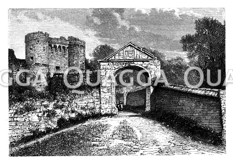 Schloss Carisbrooke auf der Insel Wight
