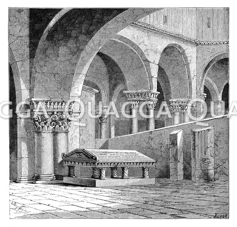 Grabmal Gottfrieds von Bouillon in der Grabeskirche oder Kirche vom heiligen Grab zu Jerusalem