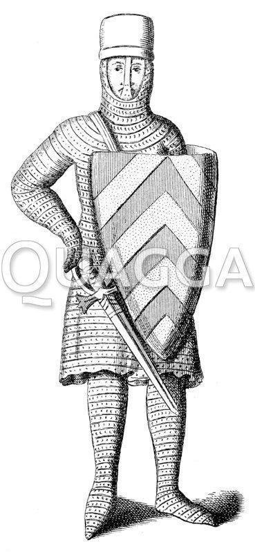 Französischer Ritter zu Beginn des 13. Jahrhunderts