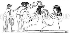 Ägyptische Dame mit ihren Begleiterinnen im Bad