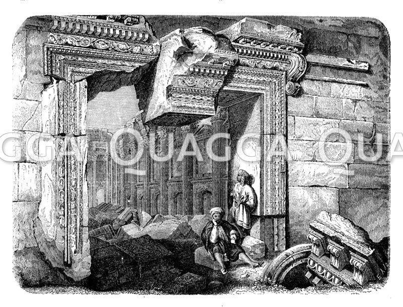 Ruinen des Sonnentempels in Baalbek