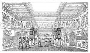 Inneres eines assyrischen Palastes