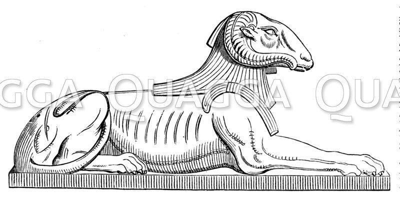 Darstellung des Amon-Kneph