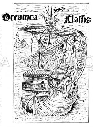 Spanisches Seeschiff aus der Zeit der Entdeckung Amerikas