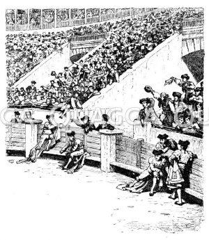 Stierkampf: Arena mit Zuschauern