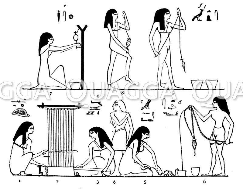 Spinnen und Weben im alten Ägypten