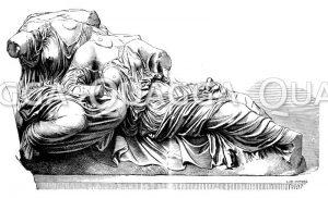 Frauen aus dem Ostgiebel des Parthenon