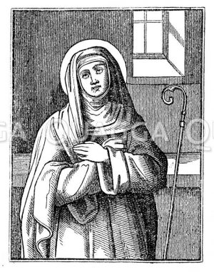 Hl. Jungfrau Gertraud aus Brabant
