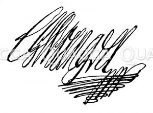 Feldmarschall Graf Karl Gustav Wrangel. Autograph