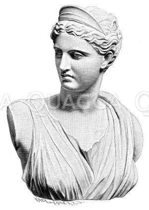 Artemis (Diana von Versailles). Antike Marmorstatue in Paris