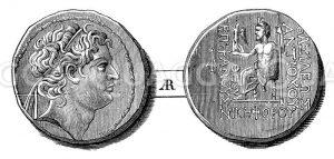 Münzporträt Antiochos IV. Epiphanes
