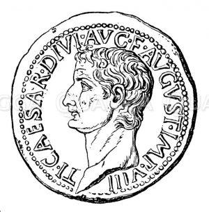 Tiberius: Münzporträt