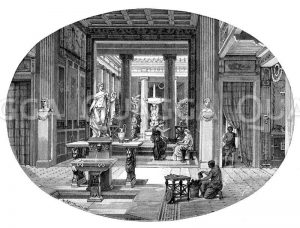Inneres eines römischen Hauses