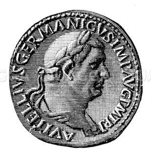 Vitellius: Münzporträt