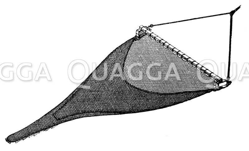 Großes Zugbaumnetz für die Seefischerei