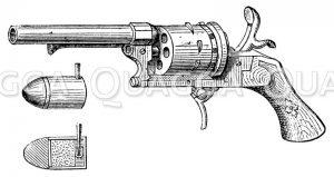 Lefaucheur-Revolver mit Patrone
