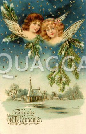 Postkarte: Weihnachten mit Engeln