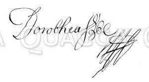 Autograph: Sophie Dorothea