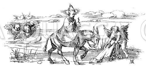 Das Christkind. Federzeichnung von Albrecht Dürer